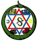 Hermetic Ouroboros Symbol