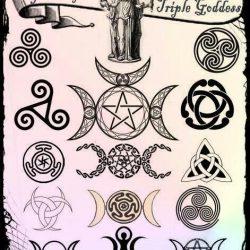 Wicca Triple Goddess Symbols